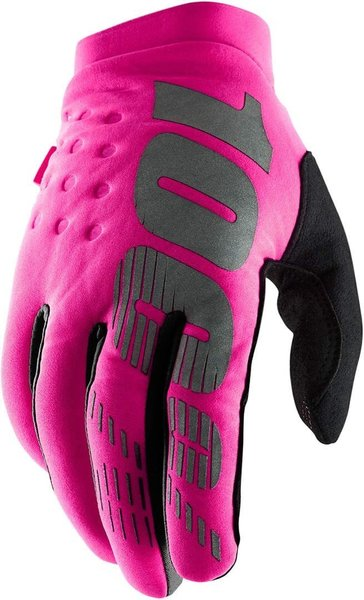 100% Brisker Women's Gloves Color: Neon Pink/Black