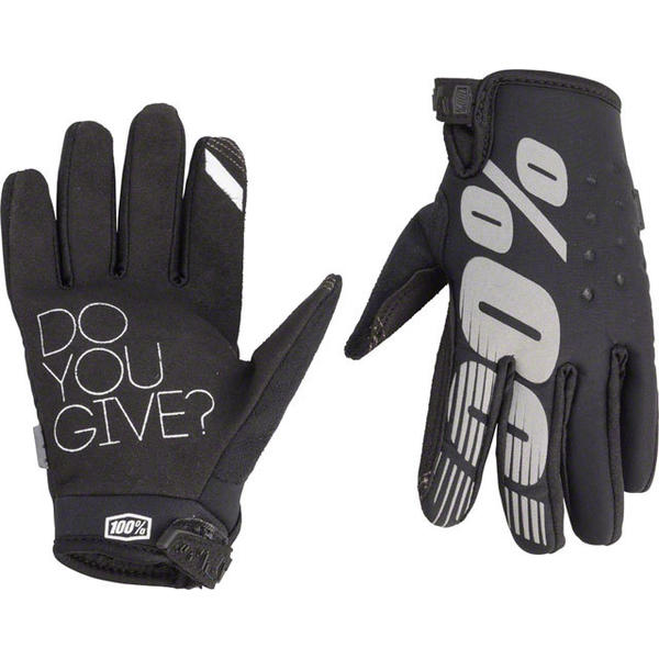 100% Brisker Youth Gloves Color: Black