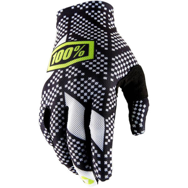100% Celium 2 Gloves Color: Code Black/White