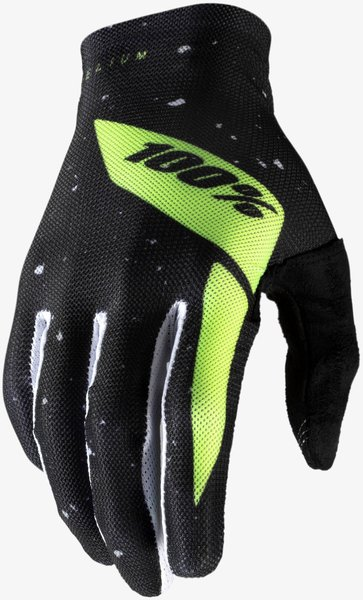 100% Celium Gloves Color: Black/Fluo Yellow
