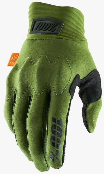 100% Cognito Gloves Color: Army Green/Black