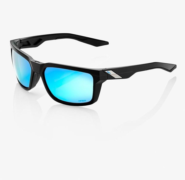 100% Daze Sunglasses Color | Lens: Matte Black | HiPER Blue Multilayer Mirror