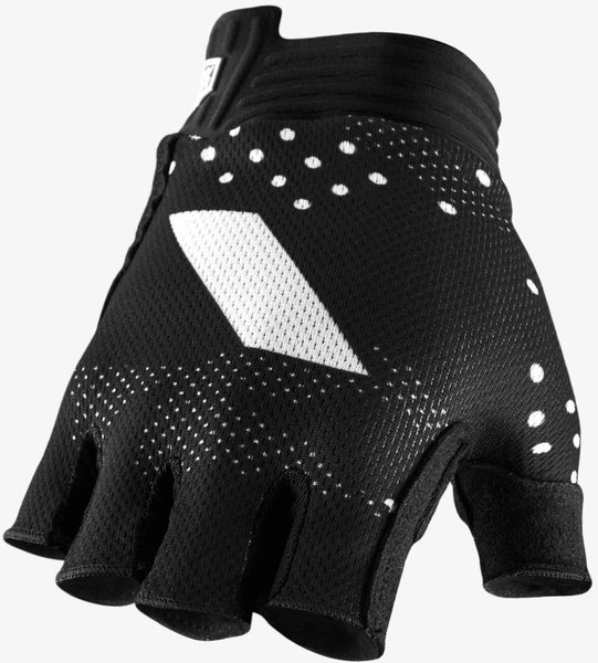 100% Exceeda Gel Short Finger Gloves Color: Black