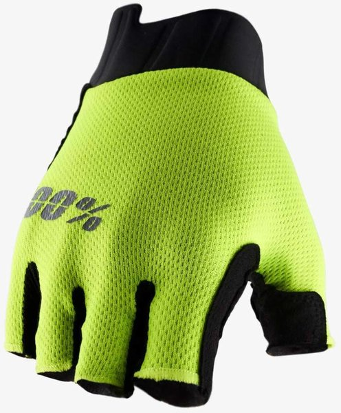 100% Exceeda Women's Short Finger Gloves Color: Fluo Yellow