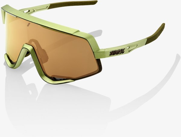 100% Glendale Sunglasses Color | Lens: Matte Metallic Viperidae | Bronze Multilayer Mirror|Clear