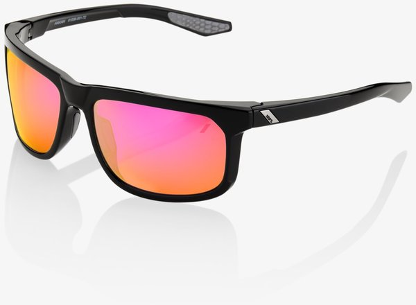 100% Hakan Sunglasses Color | Lens: Polished Black | Purple Multilayer Mirror