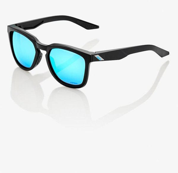 100% Hudson Sunglasses Color | Lens: Matte Black | HiPER Blue Multilayer Mirror