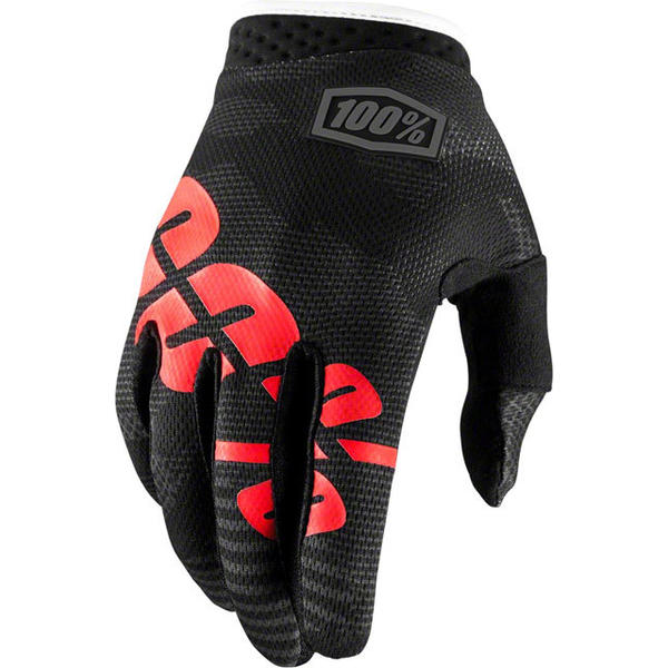 100% iTrack Gloves Color: Black Camo