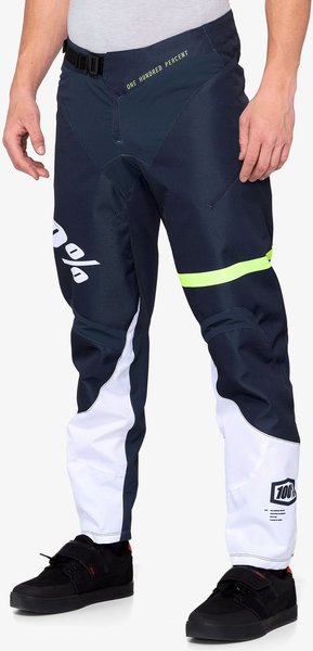 100% R-Core Pants Color: Dark Blue/Yellow