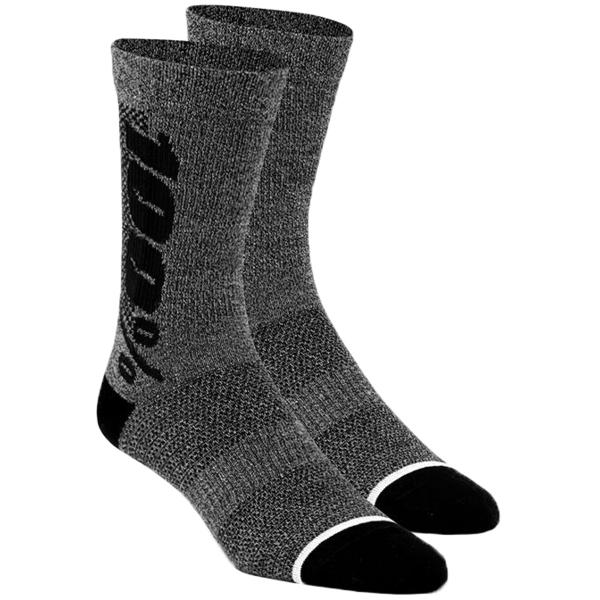 100% Rhythm Merino Performance Socks Color: Charcoal Heather