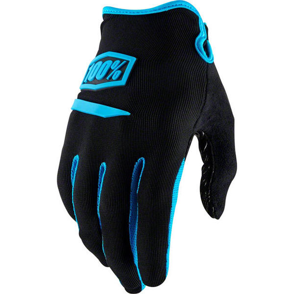 100% Ridecamp Gloves Color: Black/Blue