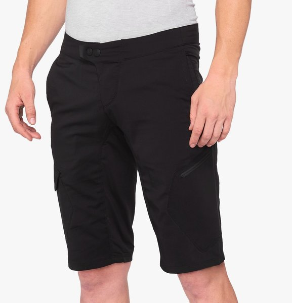 100% Ridecamp Shorts Color: Black