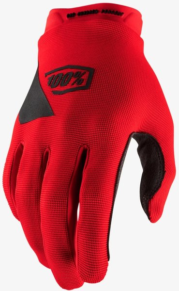 100% Ridecamp Youth Glove Color: Red