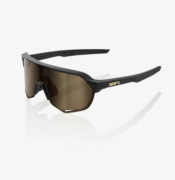 100% S2 Sunglasses Color | Lens: Matte Black | Soft Gold|Clear