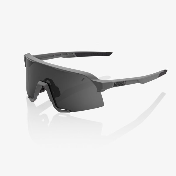 100% S3 Sunglasses Color | Lens: Matte Cool Grey | Smoke|Clear