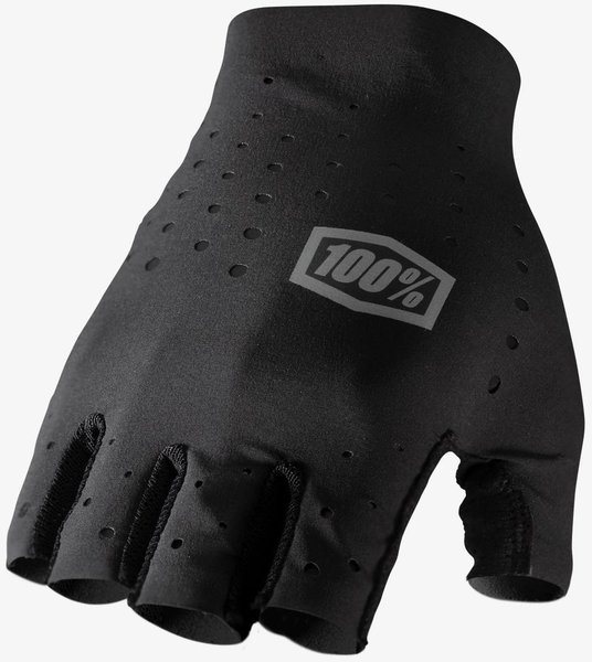 100% Sling Short Finger Glove Color: Black
