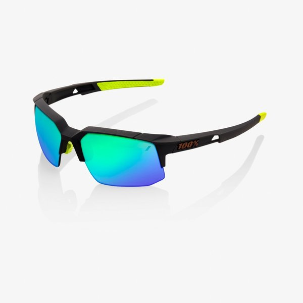 100% Speedcoupe Color | Lens: Soft Tact Cool Grey | Green Multilayer Mirror|Clear
