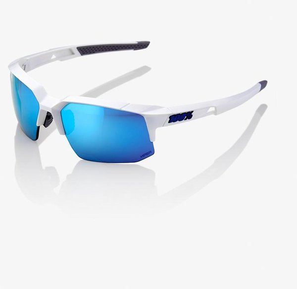 100% Speedcoupe Color | Lens: Matte White | HiPER Blue Multilayer Mirror|Clear