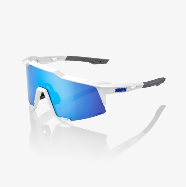 100% Speedcraft Color | Lens: Matte White | HiPER Blue Multilayer Mirror|Clear