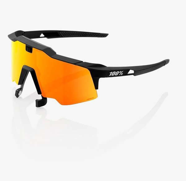 100% Speedcraft Air Sunglasses Color: Soft Tact Black