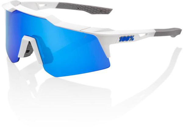 100% SPEEDCRAFT XS Color | Lens: Matte White | Blue Multilayer Mirror|Clear