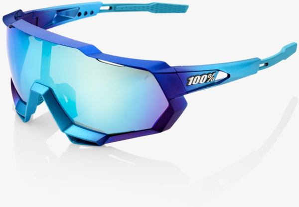 100% Speedtrap Color | Lens: Matte Metallic Into the Fade | Blue Topaz Multilayer Mirror|Clear