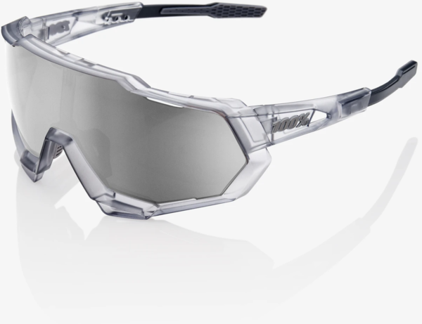 100% Speedtrap Color | Lens: Matte Translucent Crystal Grey | HiPER Silver Mirror|Clear