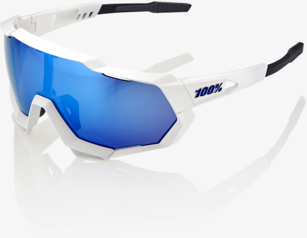 100% Speedtrap Color | Lens: Matte White | HiPER Blue Multilayer Mirror|Clear