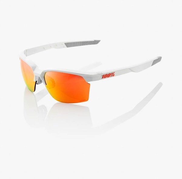 100% Sportcoupe Sunglasses Color | Lens: Matte White | HiPER Red Multilayer Mirror|Clear