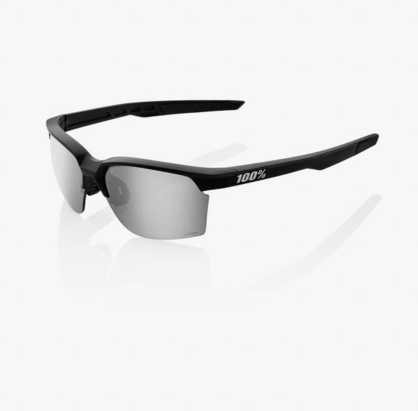 100% Sportcoupe Sunglasses Color | Lens: Matte Black | HiPER Silver Mirror|Clear