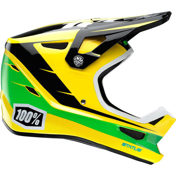 100% Status DH/BMX Helmet Color: D-Day Yellow