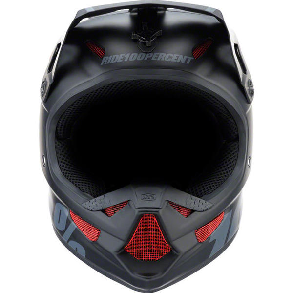 100% Status DH/BMX Youth Helmet Color: Black Meteor