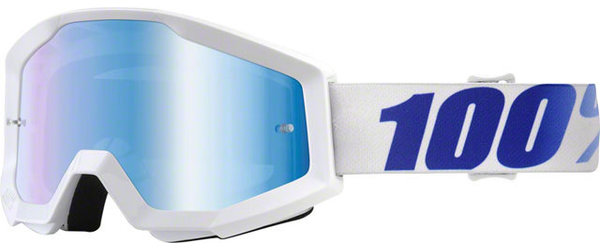 100% Strata Goggles Color | Lens: Equinox | Mirror Blue