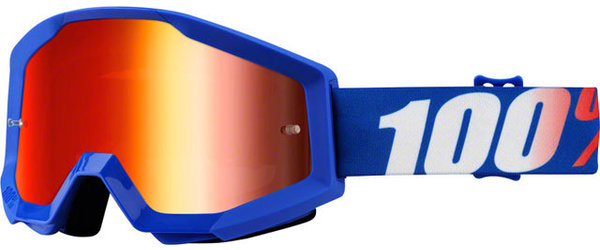 100% Strata Goggles Color | Lens: Nation | Mirror Red