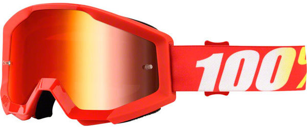 100% Strata Goggles Color | Lens: Furnace | Mirror Red