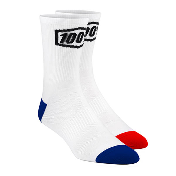 100% Terrain Socks Color: White