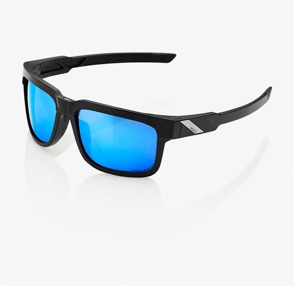 100% Type-S Sunglasses Color | Lens: Matte Black | HiPER Blue Multilayer Mirror