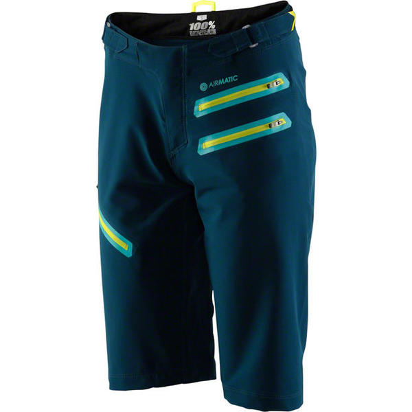 100% Women's Airmatic Shorts Color: Forest Green