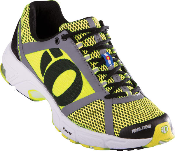 Pearl Izumi syncroFuel Road II Running Shoes Color: Black/Screaming Yellow