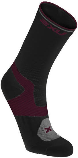 2XU Cycle VECTR Socks - Women's Color: Black/Barberry