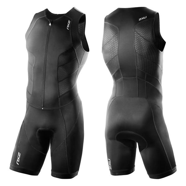 2XU Full Zip Trisuit Color: Black/Black