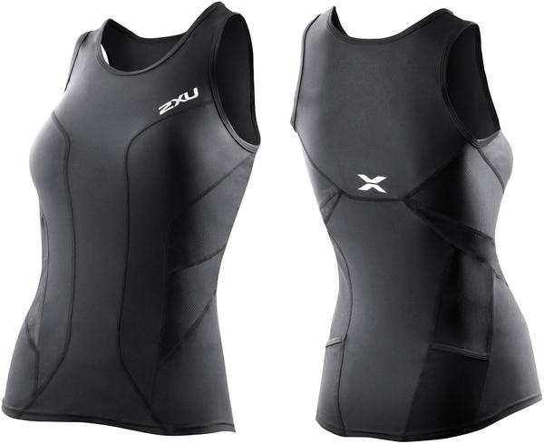 2XU G:2 Long Distance Tri Singlet - Women's Color: Black/Black