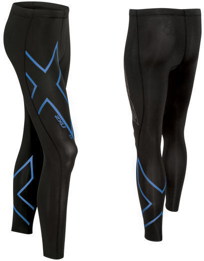 2XU ICE Compression Tights Color: Black/Cool Blue