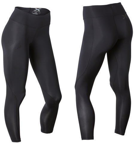 2XU Mid Rise Compression Tights - Women's Color: Black/Black