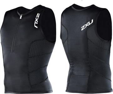 2XU Comp Tri Singlet Color: Black/Black