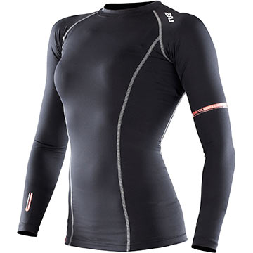 2XU Women's Long Sleeve Compression Top Color: Black