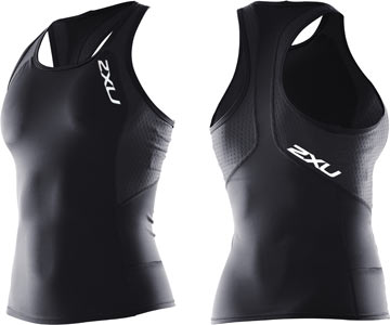 2XU Women's Comp Tri Singlet Color: Black/Black