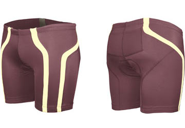 2XU Women's Femme Tri Shorts Color: Wine/Gold