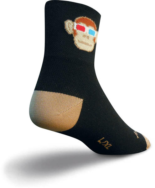 SockGuy Monkey See 3D Socks Color: Monkey See 3D