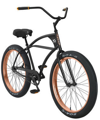 3G Bikes Imperial DLX Color: Matte Black w/Anodized Copper Rims